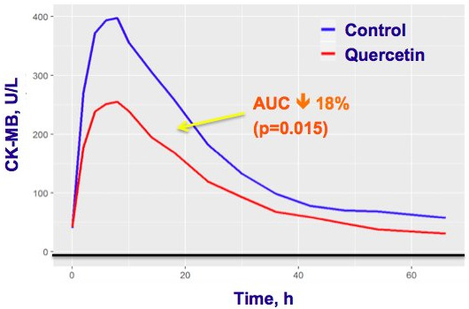 Multicenter randomized clinical trial of the efficacy and safety of intravenous quercetin in patients with ST-elevation acute myocardial infarction